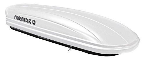 MENABO Dachbox Dachkoffer Gepäckbox abschließbar weiß 320 Liter MAA320W
